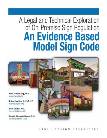 An Evidence Based Model Sign Code - College of Design ...