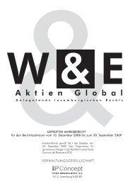 Jahresbericht zum 30.9.2009 - Weiler Eberhardt Depotverwaltung AG