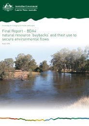 'buybacks' and their use to secure environmental flows - National ...