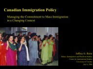 Canadian immigration selection policy and trends in ... - COMPAS