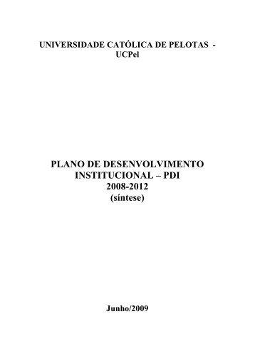 PDI 2008-2012 - Universidade Católica de Pelotas