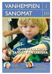 Vanhempien Sanomat 1/2010 - Suomen Vanhempainliitto