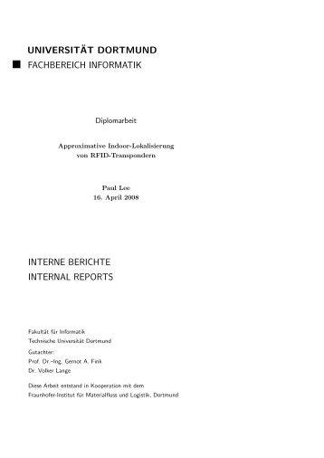 Approximative Indoor-Lokalisierung von RFID ... - Gernot A. Fink