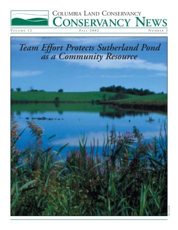 02-174-CLC News Fall 2002 - Columbia Land Conservancy