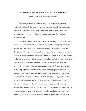 Levites in Josephus - Fontes