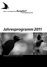 Jahresprogramm 2011 - Natur- und Vogelschutz Burgdorf