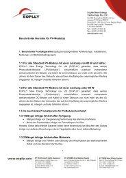 Beschränkte Garantie für PV-Modul(e) 1.1 Für alle ... - Mare Solar