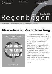 Regenbogen November 2005 - St. Heinrich