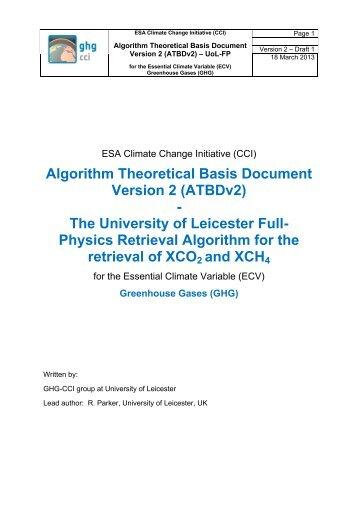 ATBD - GHG-CCI