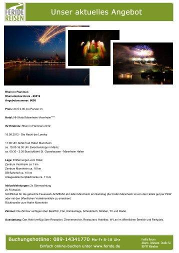 Rhein in Flammen - Eventreisen - Trierischer Volksfreund