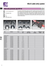 KDL/E cable entry system