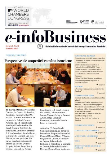 e-infoBusiness nr. 10/15.03.2013 - Camera de Comert si Industrie a ...