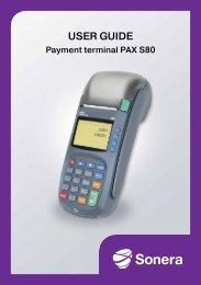 Payment terminal PAX S80 - Sonera