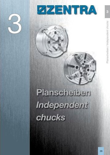 Planscheiben Independent chucks