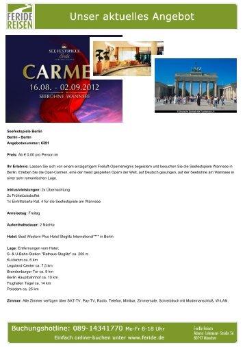 Seefestspiele Berlin - Eventreisen - Trierischer Volksfreund