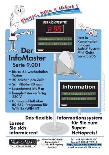 Datenblatt Infosysteme - Hartmut Scholz Waagen und Systeme