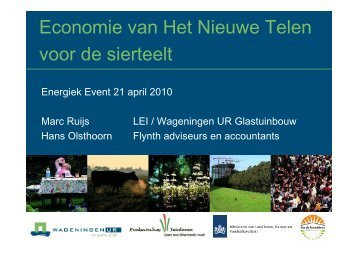MR - Energiek 21 april - Economie nieuwe telen - Energiek2020