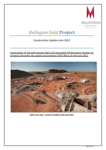 Pictorial Update June 2012 - Millennium Minerals Limited