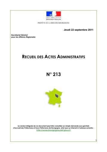 RAA 213 - Préfecture de la Côte-d'Or