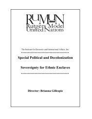 Rutgers Model United Nations - IDIA