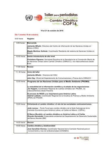 programa del taller - CINU