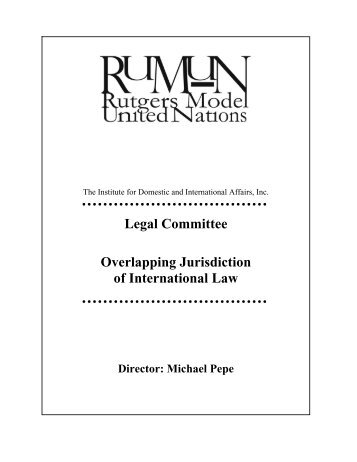 Legal Committee Overlapping Jurisdiction of International Law - IDIA
