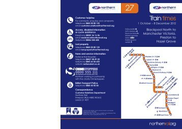Northern Timetable 27.indd - Northern Rail