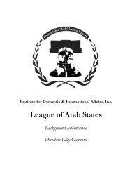 League of Arab States - IDIA