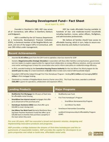 Download HDF Fact Sheet - Housing Development Fund, Inc.