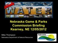 Nebraska Game and Parks Commission Briefing
