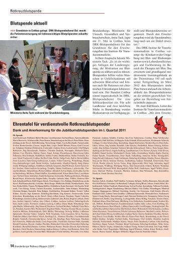 Ehrentafel für verdienstvolle Rotkreuzblutspender Blutspende aktuell