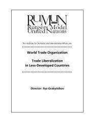 Rutgers Model United Nations 2 - IDIA