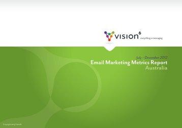 Email Marketing Metrics Report Australia - Vision 6