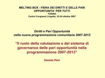 """""""Il ruolo della valutazione e del sistema di governance delle pari ..."""