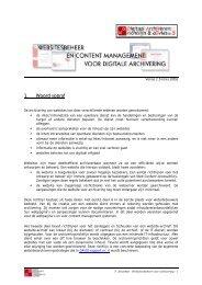 Websitesbeheer en content management voor digitale archivering