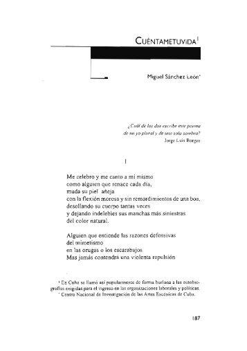 Cuéntametuvida / Miguel Sánchez León
