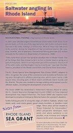 July 2012 #2 - Rhode Island Sea Grant - University of Rhode Island