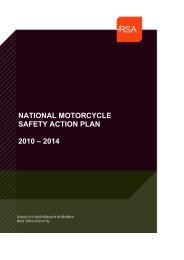 National Motorcycle safety action plan - Road Safety Authority