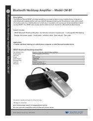 Bluetooth Neckloop Amplifier - Williams Sound