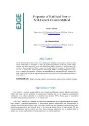 Properties of Stabilized Peat by Soil-Cement Column ... - Ejge.com