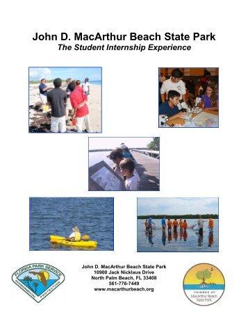John D. MacArthur Beach State Park The Student Internship ...