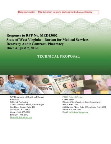 Response to RFP No. MED13002 State of West Virginia ... - DHHR