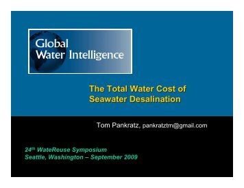 The Total Water Cost of Seawater Desalination