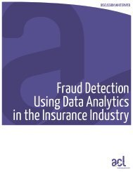 Fraud Detection Using Data Analytics in the Insurance ... - Acl.com
