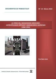 Marzo 2010 Eva Sanz Jara LA CRISIS DEL INDIGENISMO ... - ielat