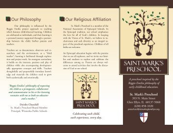 Preschool Brochure - St. Mark's Episcopal Church