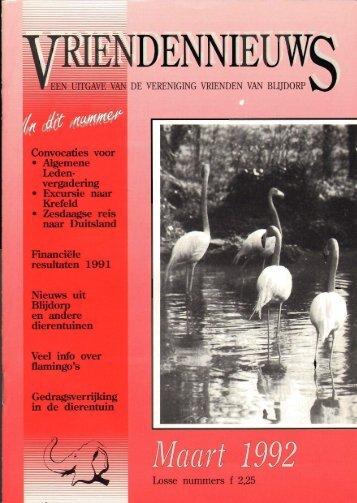 1992-14-01 - Vrienden van Blijdorp