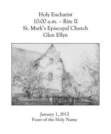 Sunday Bulletin for January 1, 2012 - St. Mark's Episcopal Church