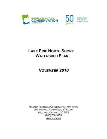 Lake Erie North Shore Watershed Plan - Niagara Peninsula ...