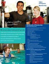 2013 Membership Information Sheet - Kingston Family YMCA